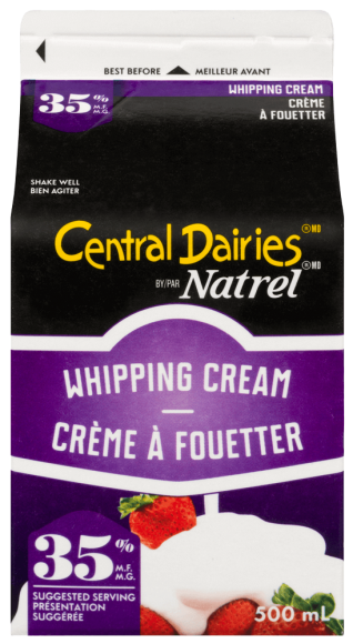 Central Dairies by Natrel 35% Whipping Cream