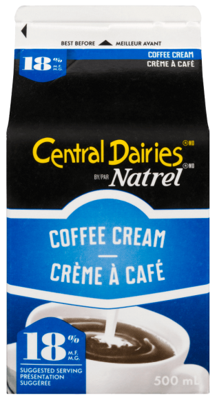 Central Dairies by Natrel 18% Coffee Cream