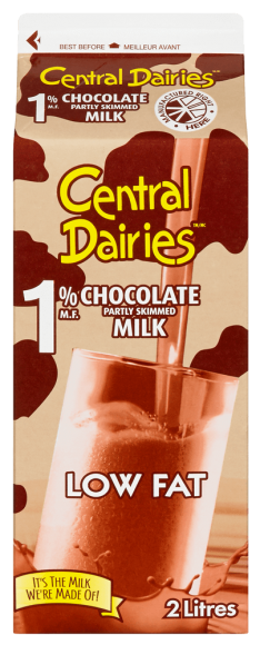 Central Dairies 1% Chocolate Milk