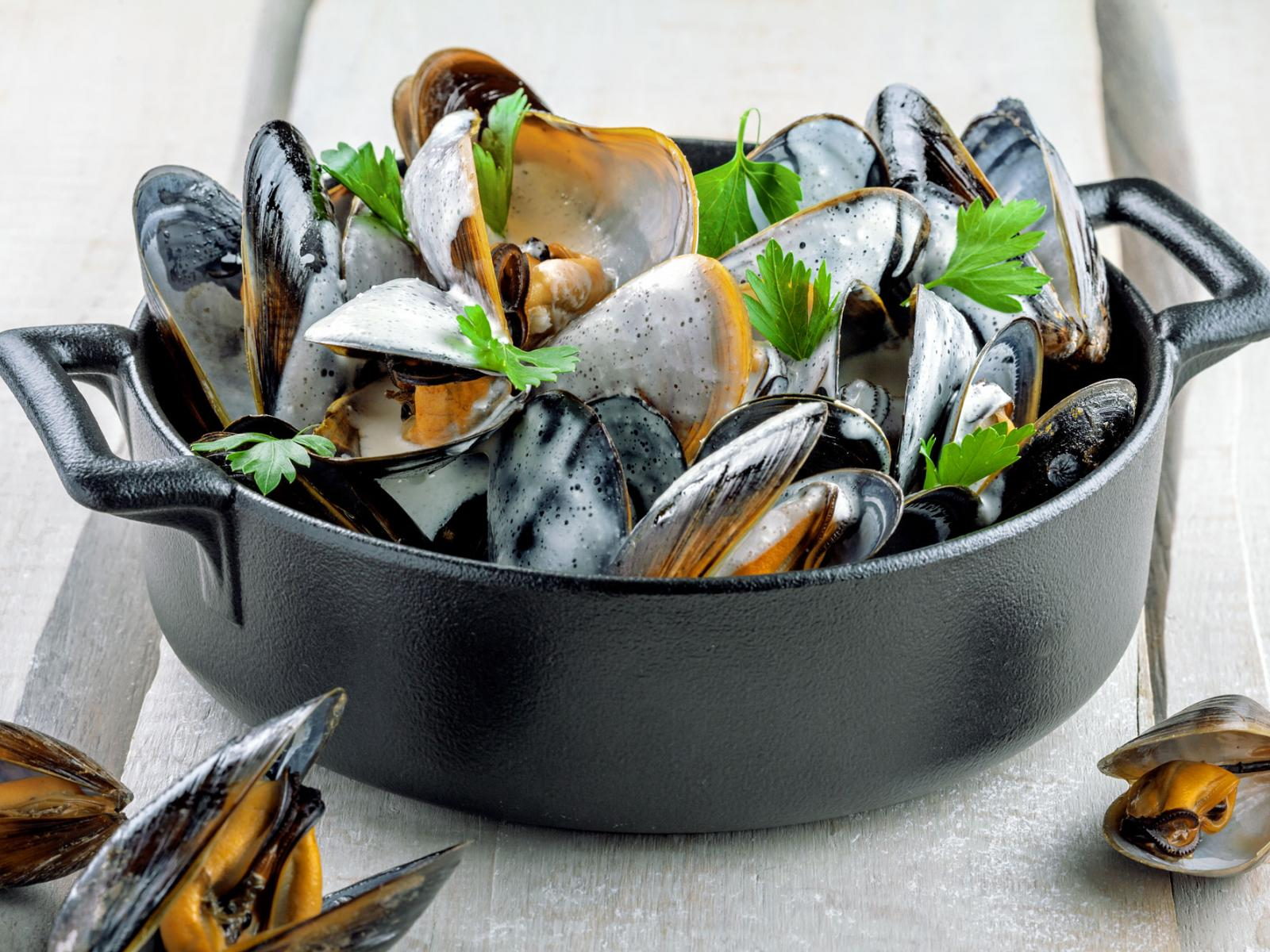 Steamed Mussels in a Cream Sauce